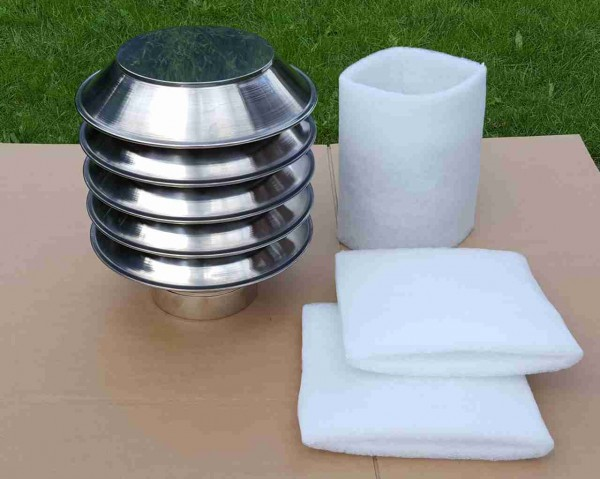 Ersatzfilter für Lufteinlass Typ L4 rund kompatibel 3Stk.