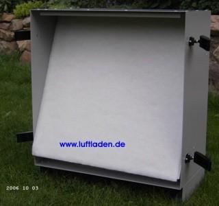 Paul Ersatzfilter G4/G2 für Außenluftfilterbox, geöffnete Box
