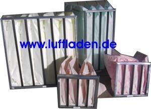 Taschenfilter Standardabmessungen