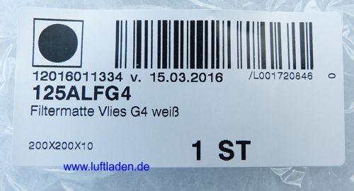Westaflex Grobfiltermatte 125ALFG4 für 125AVD