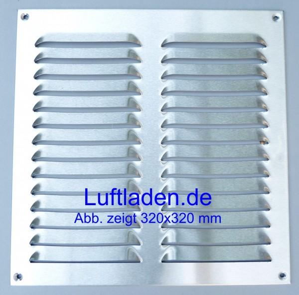 Wetterschutzgitter / Lüftungsgitter 230*240mm Edelstahl