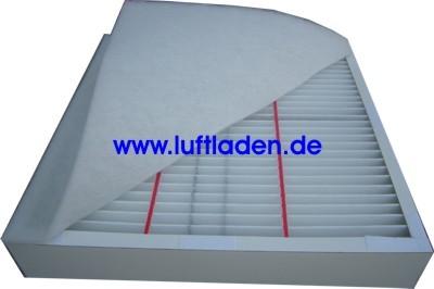 Filter G4/G2 für rechteckige Filterbox kompatibel