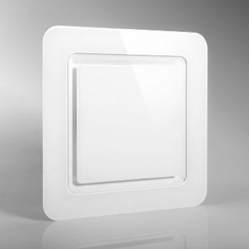 Quadratisches Lüftungsventil Frame 100 Glas Front
