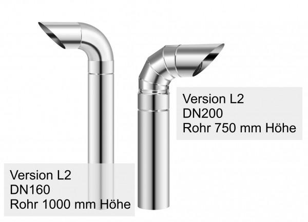 Edelstahl-Luftbogen Typ L2 Außenlufteinheit Lufteinlass