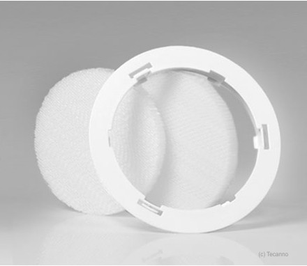 Filtereinsatz mit zwei Filtern für Quadratische Lüftungsventile