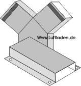 Rechteckiger Metallflachkanal