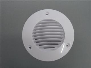 Airflow Ausblasgitter rund DN100 weiß