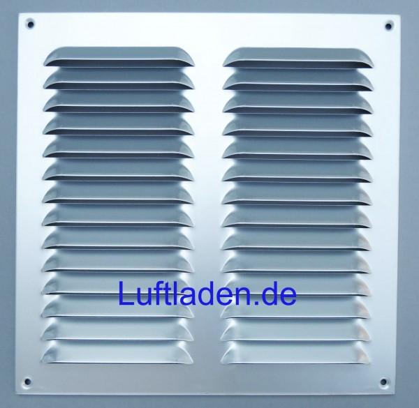 Wetterschutzgitter / Lüftungsgitter 320*320mm Aluminium